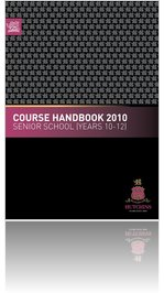 The Hutchins School COURSE HANDBOOK YEARS 10 TO 12