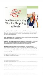 Best Money-Saving Tips for Shopping at Kohl's