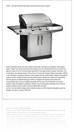 CPSC - Char-Broil Recalls Patio Bistro Gas Grills