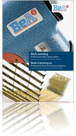 OMS katalog BeA pneumatskih klamerica, pištolja za čavle & klamerica, čavala i ljepila
