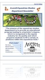 Averett Equestrian Newsletter Fall 13