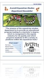 Averett Equestrian Newsletter Fall 13