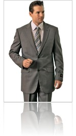 Polyrayon men's grey classic suit
