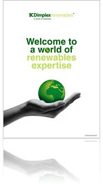 Dimplex Renewables Capabilities Brochure Oct 2010