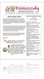 preschool april newsletter read dunwoody umc preschool april newsletter 2011 477