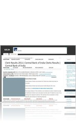 Clerk Results 2011 | Central Bank of India Clerks Results | Central Bank of India | bze.in