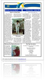 April 2011 Newsletter Ellon Rotary