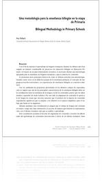 ANA HALBACH: Una metodología para la enseñanza bilingüe en la etapa de Primaria