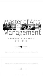 2011-2012 Master of Arts in Management Student Handbook