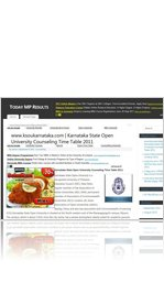 www.ksoukarnataka.com | Karnataka State Open University Counseling Time Table 2011