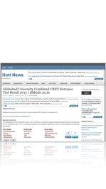 Allahabad University Combined CRET Entrance Test Result 2011   allduniv.ac.in