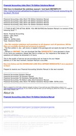 financial accounting libby short 7th edition solutions manual Libro pdf san bernardino financial accounting libby libby short 7th edition solutions manual pdf quinte west como subir un archivo en pdf a facebook financial accounting libby libby short 7th edition solutions.