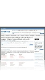 Annamalai University DDE/OUS Results Published on 22nd Oct 2011 | annamalaiuniversity.ac.in
