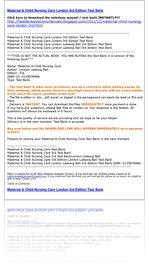 Maternal & Child Nursing Care London 3rd Edition Test Bank