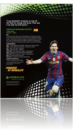 Lionel Messi Flyer Herbalife Athlete Flyer