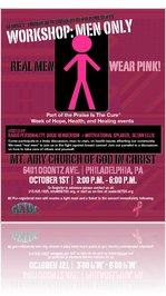 Real Men Wear Pink Flyer