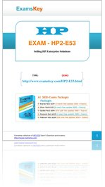 Download free HP2-E53 Questions and Answers Demo