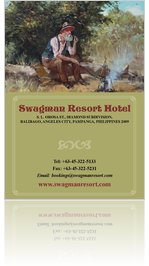 Swagman Resort Hotel Angeles City Food and Drinks Menu June 2013