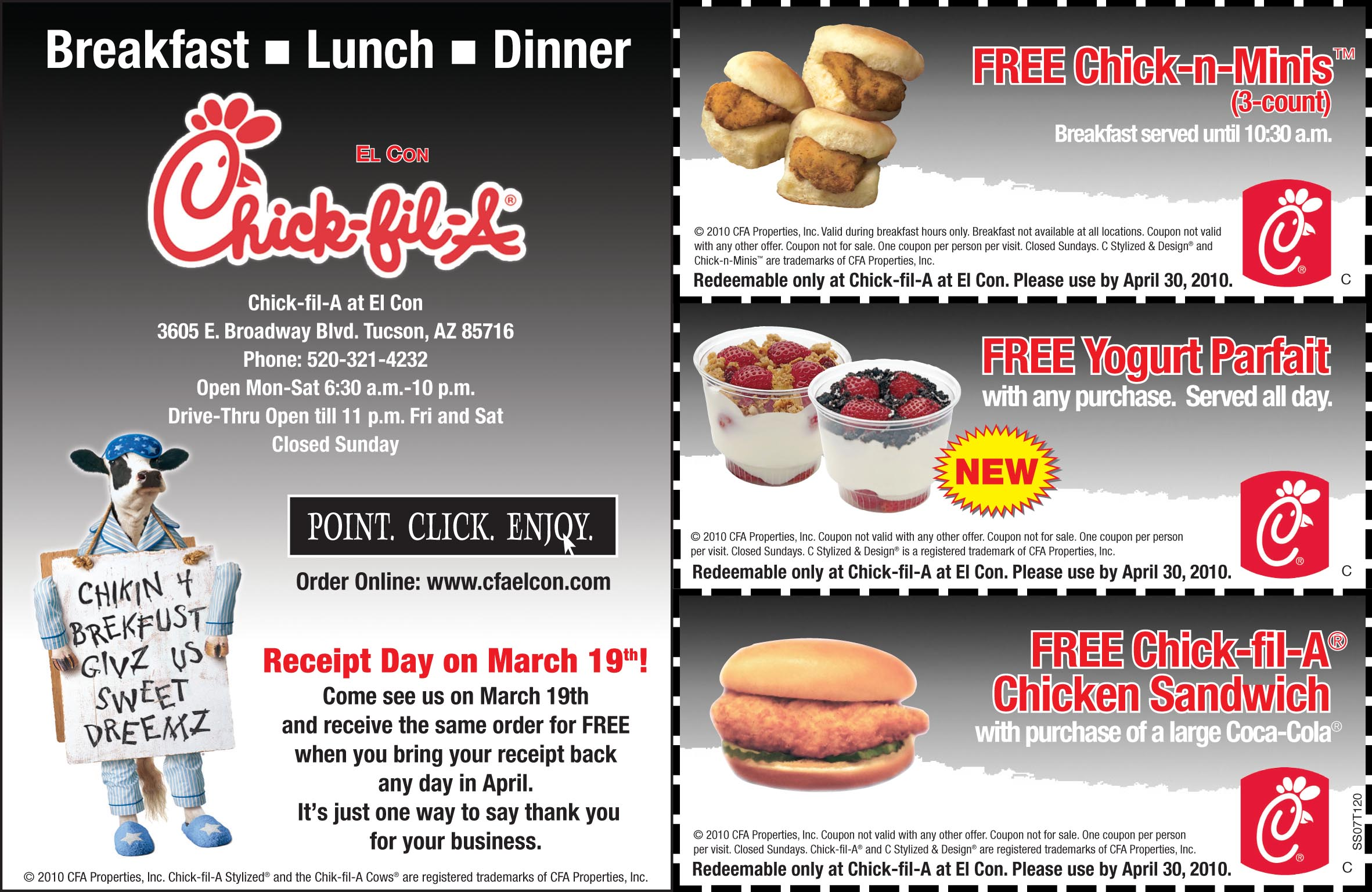 Chick fil a coupon code