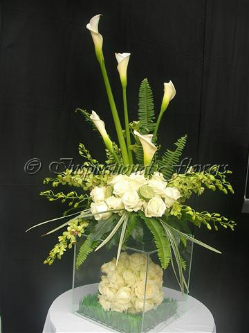 Acrylic Floral Table Centre