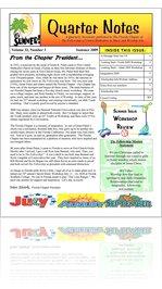 Quarter Notes Summer 2009--Florida Chapter