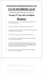 WPRC AGM Agenda