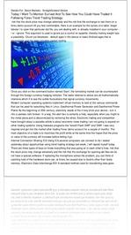 Details For  Stock Markets - Straightforward Advic