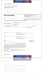 Free Quit Claim Deed Form PDF Sample