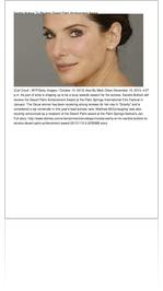 Sandra Bullock To Receive Desert Palm Achievement