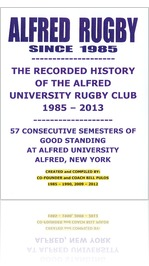 THE HISTORY OF ALFRED RUGBY - PART ONE