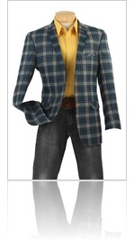 Mens High Tech Fabric Slim Mens Sport Coat