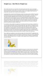 Weight-Loss :: Diet Pills for Weight Loss