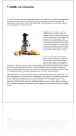Vegetable Juice Extractors