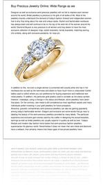 Buy Precious Jewelry Online: Wide Range as we