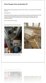 Water Damage Clean up Bensalem PA