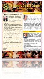 Rotary Club of Comber Bulletin