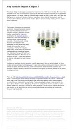 Why Invest In Organic E Liquid ?
