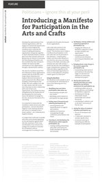 A Manifesto For Participation In The Arts And Crafts, mailout, DJF 2009