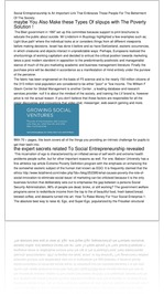 Social Entrepreneurship Is An Important Link That