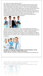 Five  Health Care Professional Methods Outlined