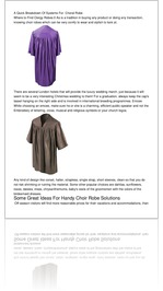 A Quick Breakdown Of Systems For  Choral Robe