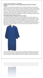 A Quick A-z On Smart Solutions In  Choral Robes