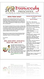 dunwoody methodist preschool read dunwoody umc preschool april newsletter 2011 20747