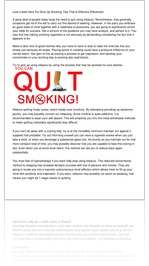 Look Listed Here For Give Up Smoking Tips That Is