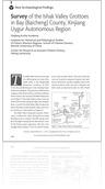 Volume 1 #1, 2014: Survey of the Ishak Valley Grottoes in Bay (Baicheng) County, Xinjiang Uygur Autonomous Region