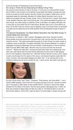 Further Examination Of Rudimentary Yeonmi Park Sec