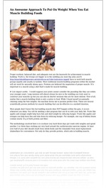 An Awesome Approach To Put On Weight When You Eat Muscle Building Foods