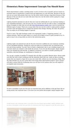 Elementary Home Improvement Concepts You Should Know