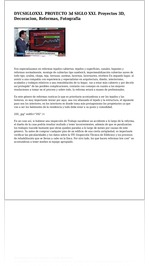 DYCSIGLOXXI. PROYECTO 3d SIGLO XXI. Proyectos 3D, Decoracion, Reformas, Fotografia