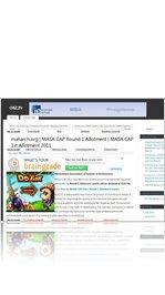 maharch.org | MASA CAP Round 1 Allotment | MASA CAP 1st Allotment 2011